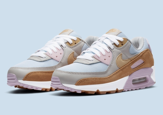 Soft Pastels Balance Out This Fall-Friendly Nike Air Max 90 For Women