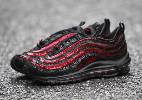 The Sequined Nike Air Max 97 For Women Appears In Red And Black