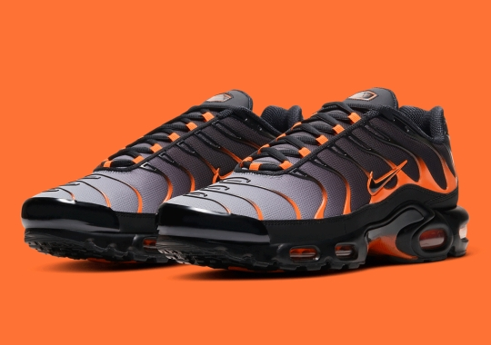 The Nike Air Max Plus Dresses Up In Black And Orange Ahead Of Halloween
