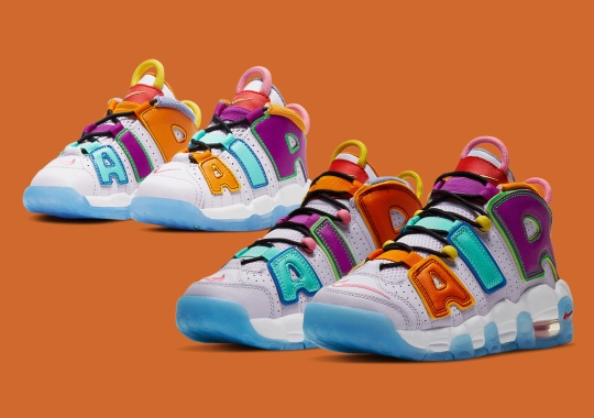 The Nike Air More Uptempo Dresses Its Lettering In Loud Multicolor