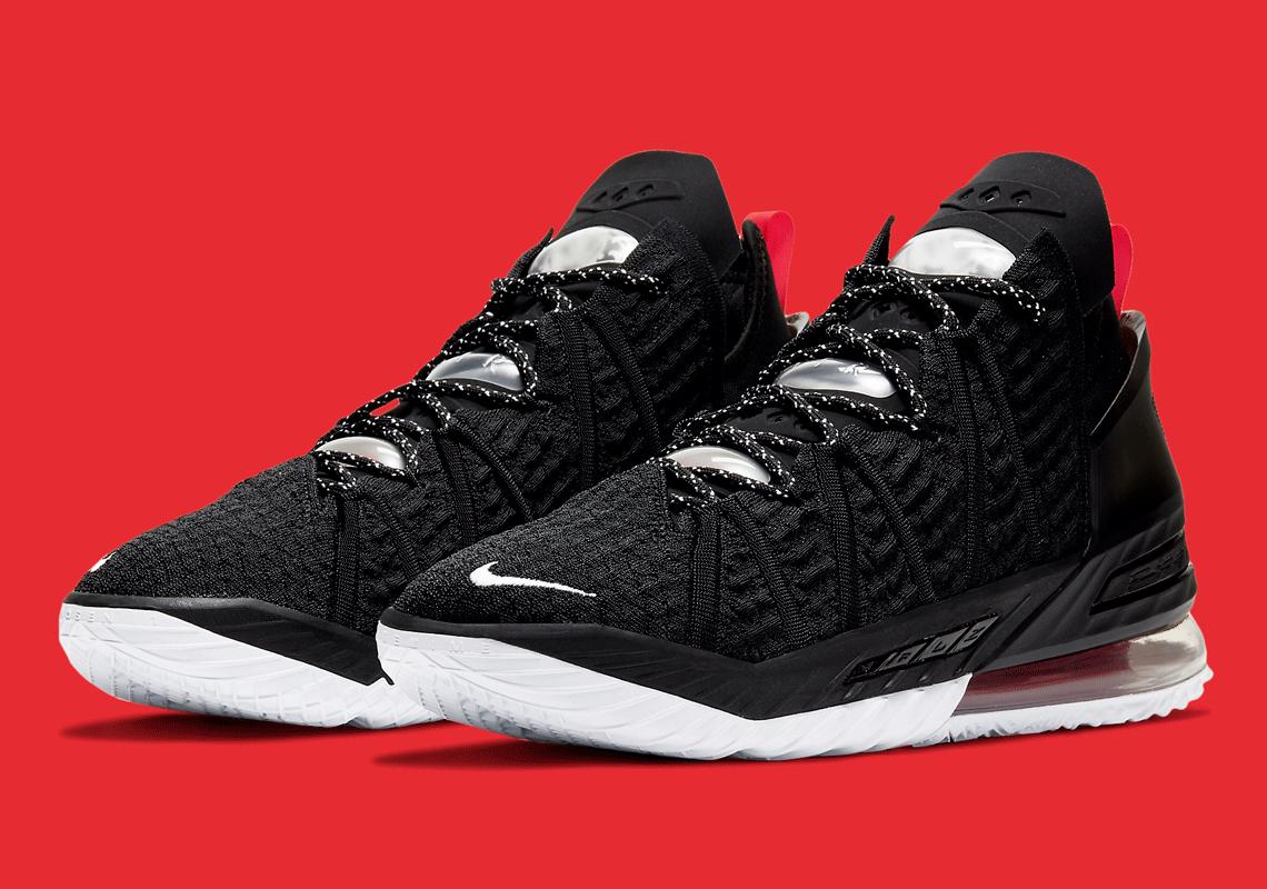 Nike LeBron 18 Black Red CQ9283-001
