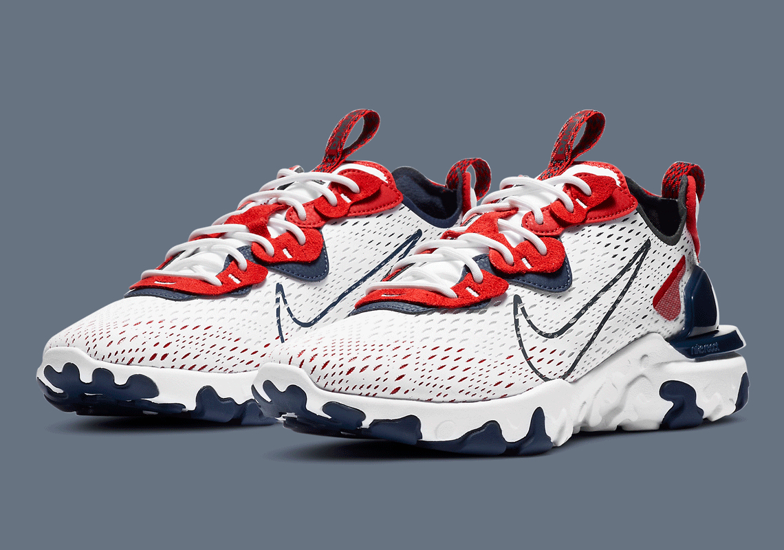 Nike React Vision White Navy Red CW7355-100 | SneakerNews.com