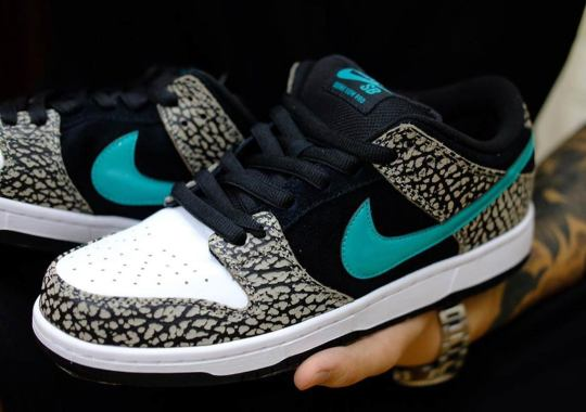 """Best Look Yet At The Nike SB Dunk Low """"atmos Elephant"""""""