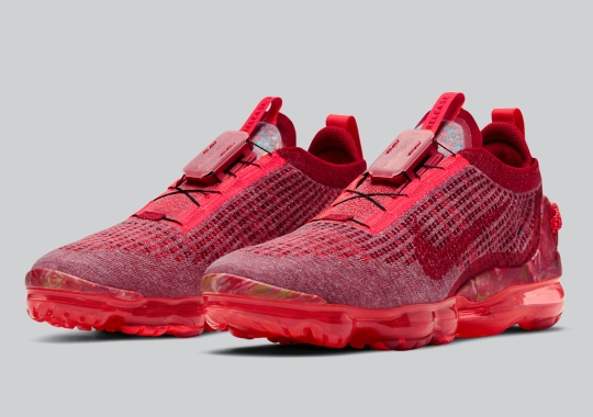 The Nike VaporMax 2020 Appears In A Triple-Red Makeover