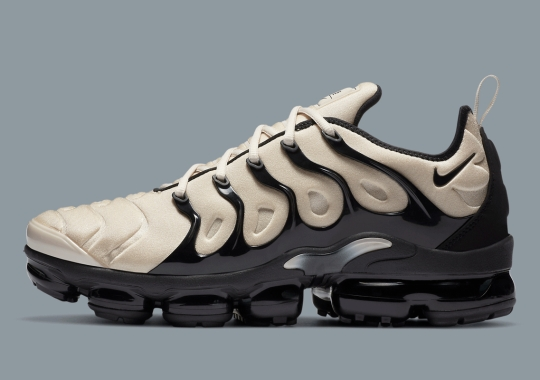 The Nike Vapormax Plus Appears In Bone, Grey And Black