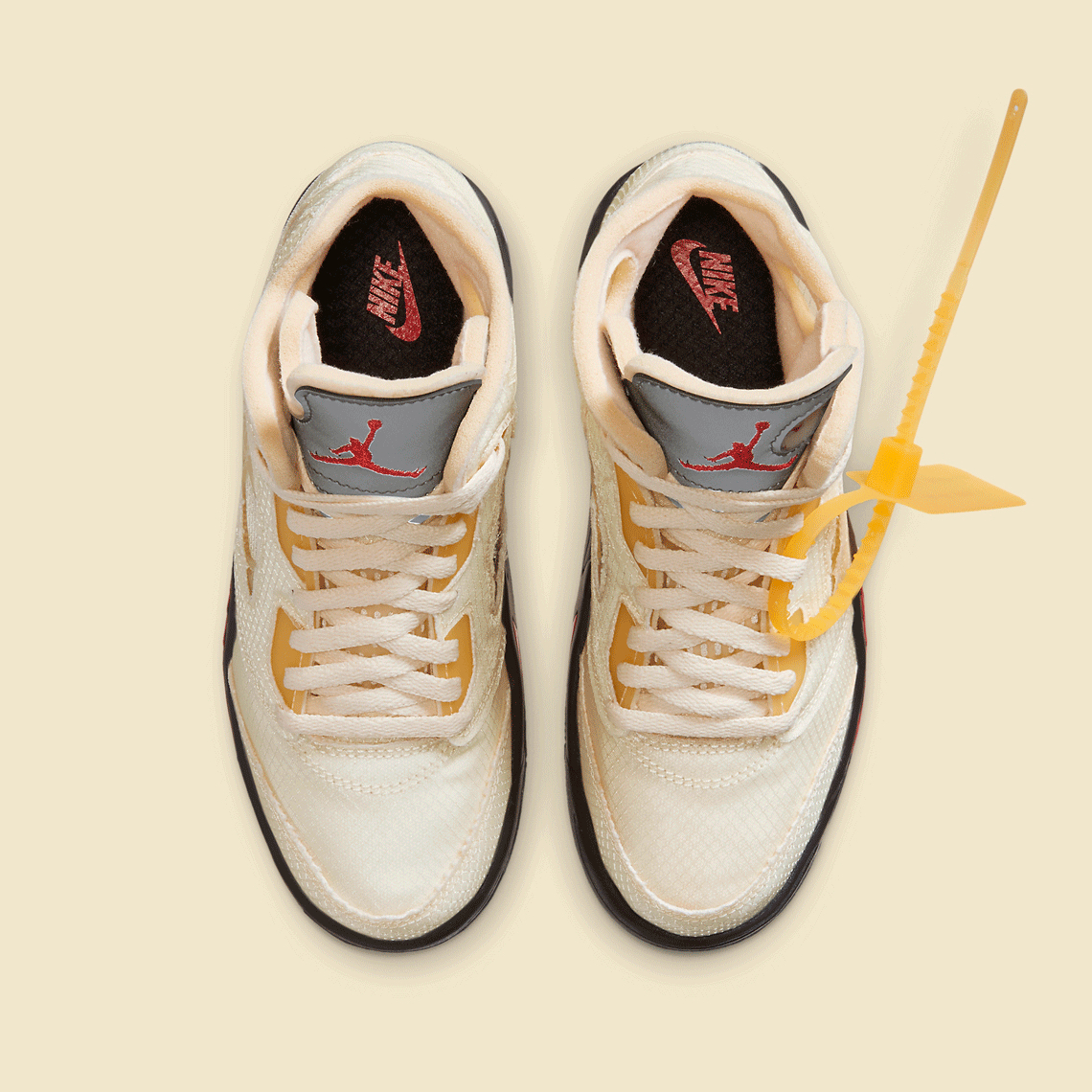 Off-White x Air Jordan 5 Retro SP PS 'Sail'