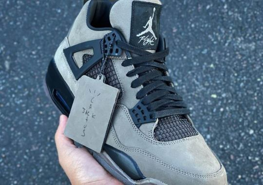 A Closer Look At Travis Scott's Unreleased Air Jordan 4 Sample Surfaces