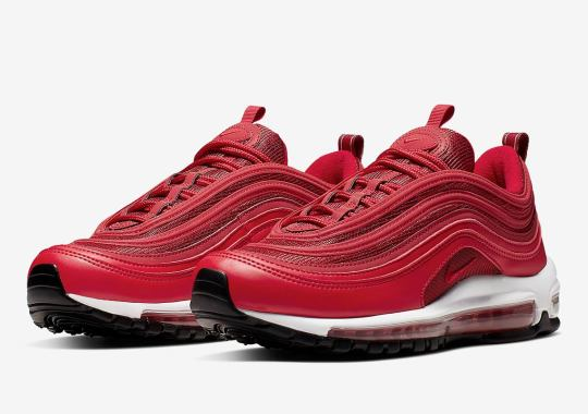 "The Nike Air Max 97 Appears In A Women's ""University Red"" Colorway"