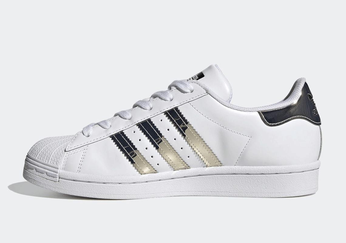 adidas Superstar White SIlver Womens