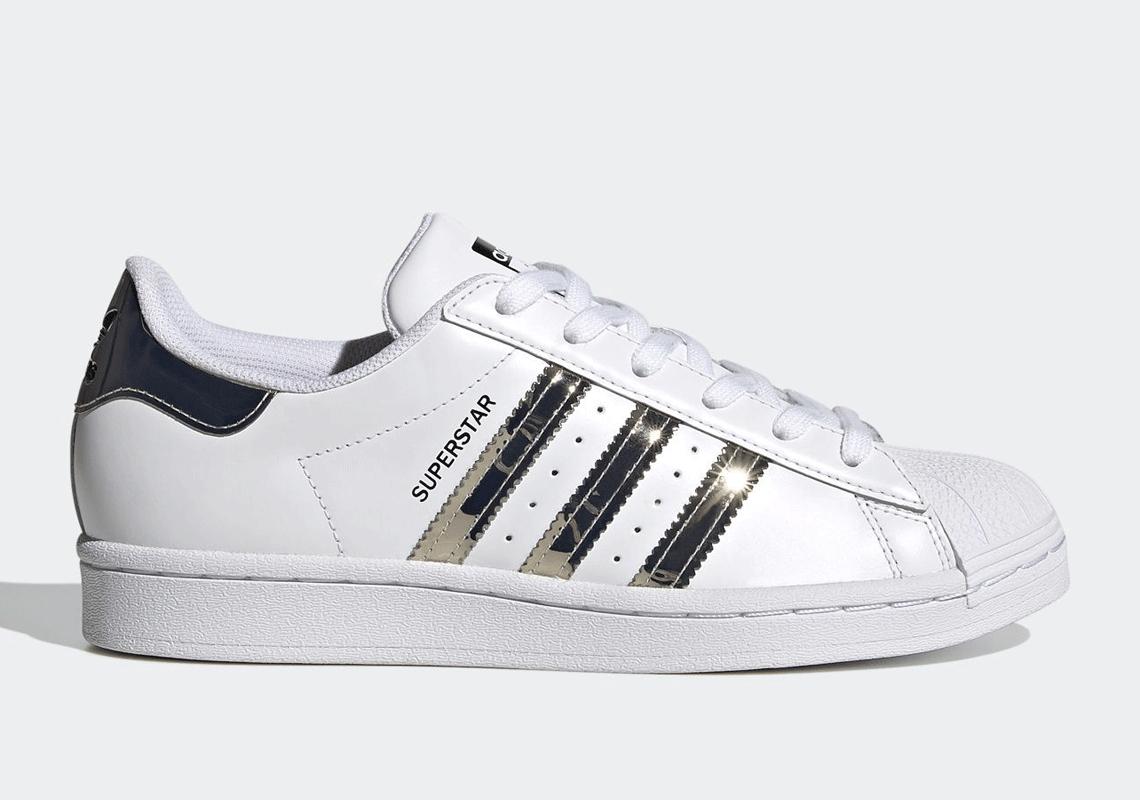 adidas Superstar White SIlver Womens FW3915 | SneakerNews.com