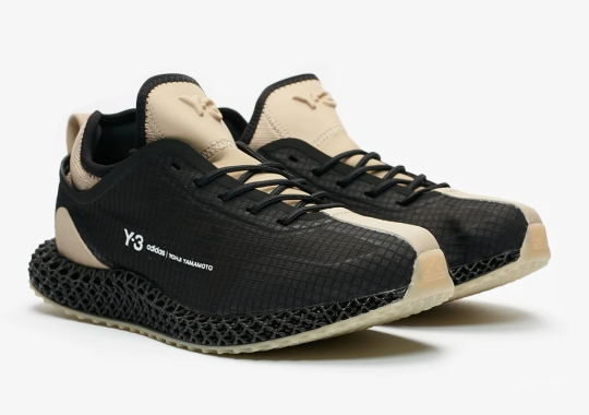 The adidas Y-3 Runner 4D Appears In Black And Sesame
