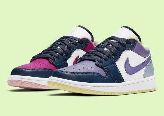 The Air Jordan 1 Low Surfaces With Mismatching Color-Blocking
