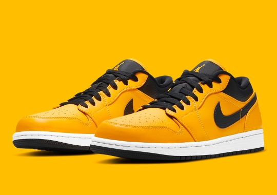 "The Air Jordan 1 Low Appears Covered In ""University Gold"""