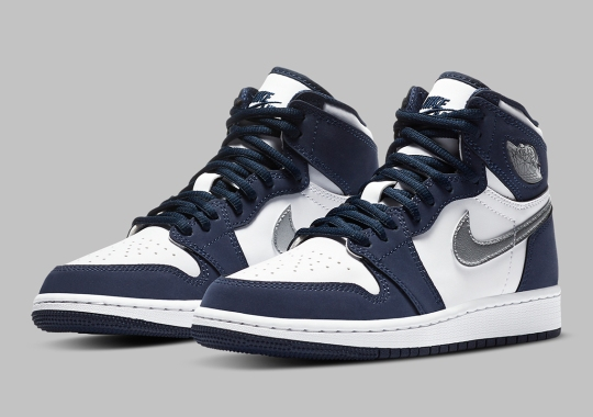 "Air Jordan 1 Retro High OG CO.JP ""Midnight Navy"" Releasing In Kids Sizes"