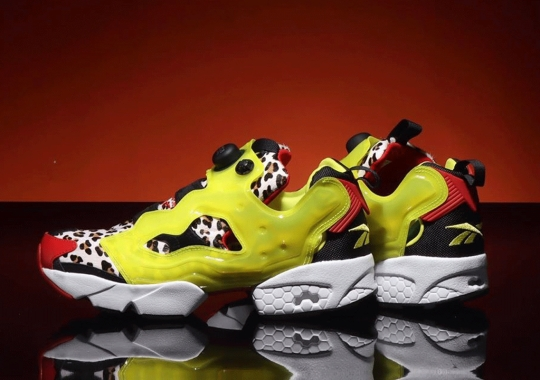 atmos Alters The Reebok Instapump Fury With Jaguar Prints And Translucent Citron Bladders