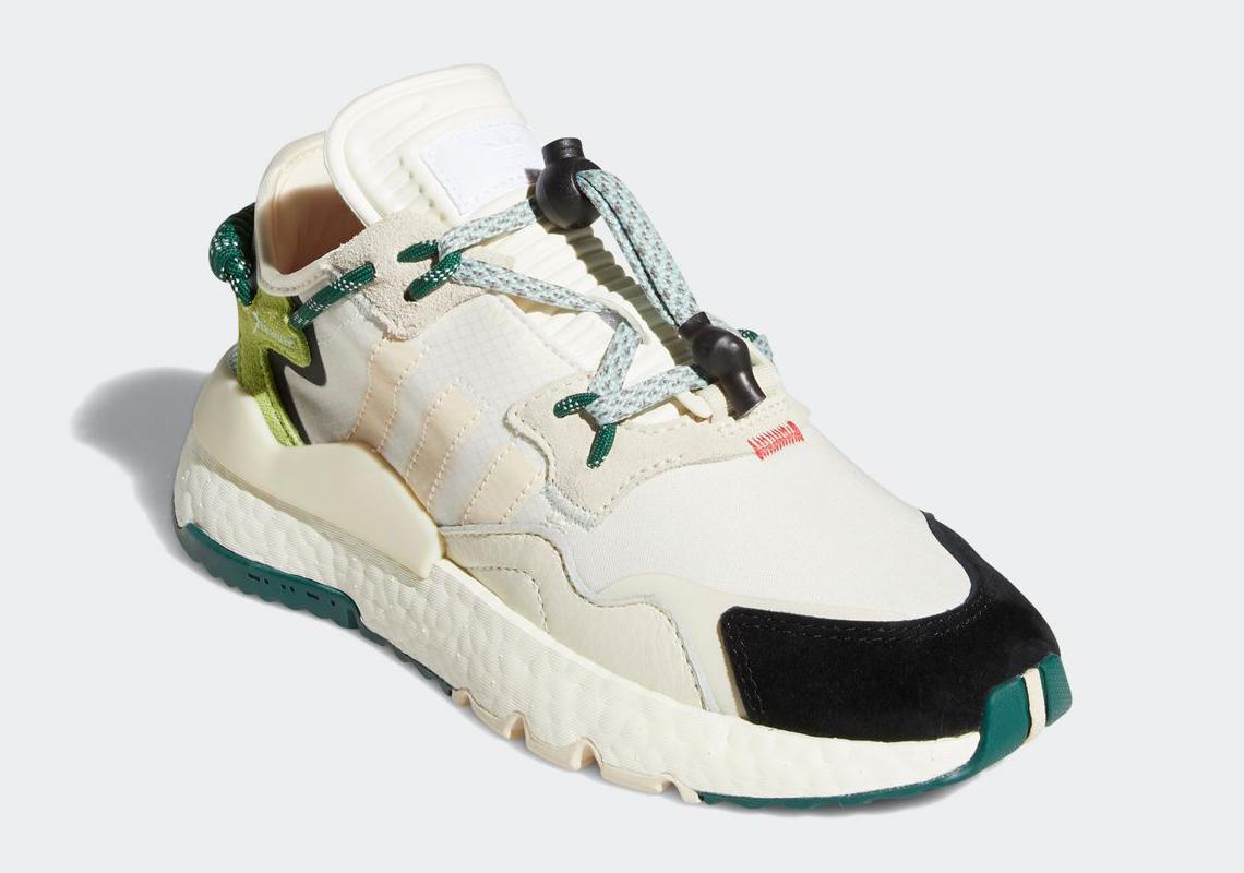 Ivy Park adidas Nite Jogger Off White Green S29038 | SneakerNews.com
