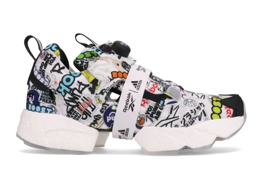 """The Reebok Instapump Fury BOOST """"Sticker City"""" Bombs The Upper In Logos"""