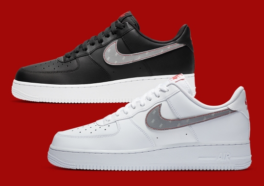 The Nike Air Force 1 Adds Classics 3M Logo To Reflective Swooshes