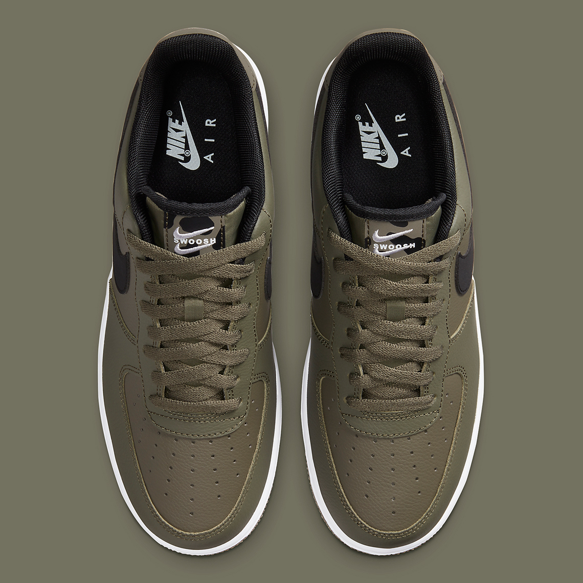 Nike Air Force 1 Low Olive Noir CT2300-300 - Comparaland
