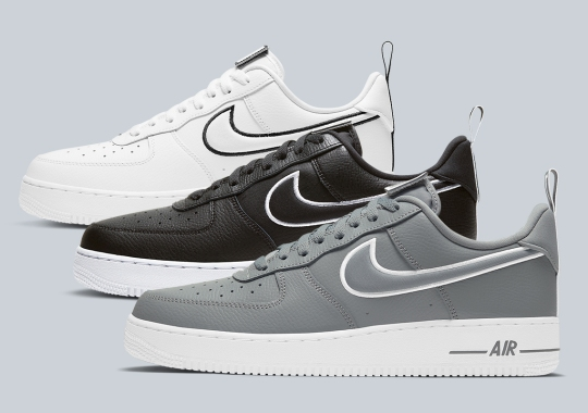 The Nike Air Force 1 Low Emerges In A Greyscale Trio Complete With Velcro Tongue Labels