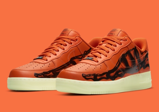 """Official Images Of The Nike Air Force 1 Low """"Orange Skeleton"""""""