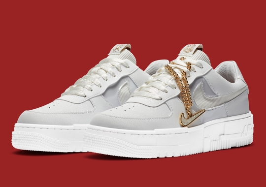 The Nike Air Force 1 Low Pixel Comes Accessorized With Gold Chains And Pendants