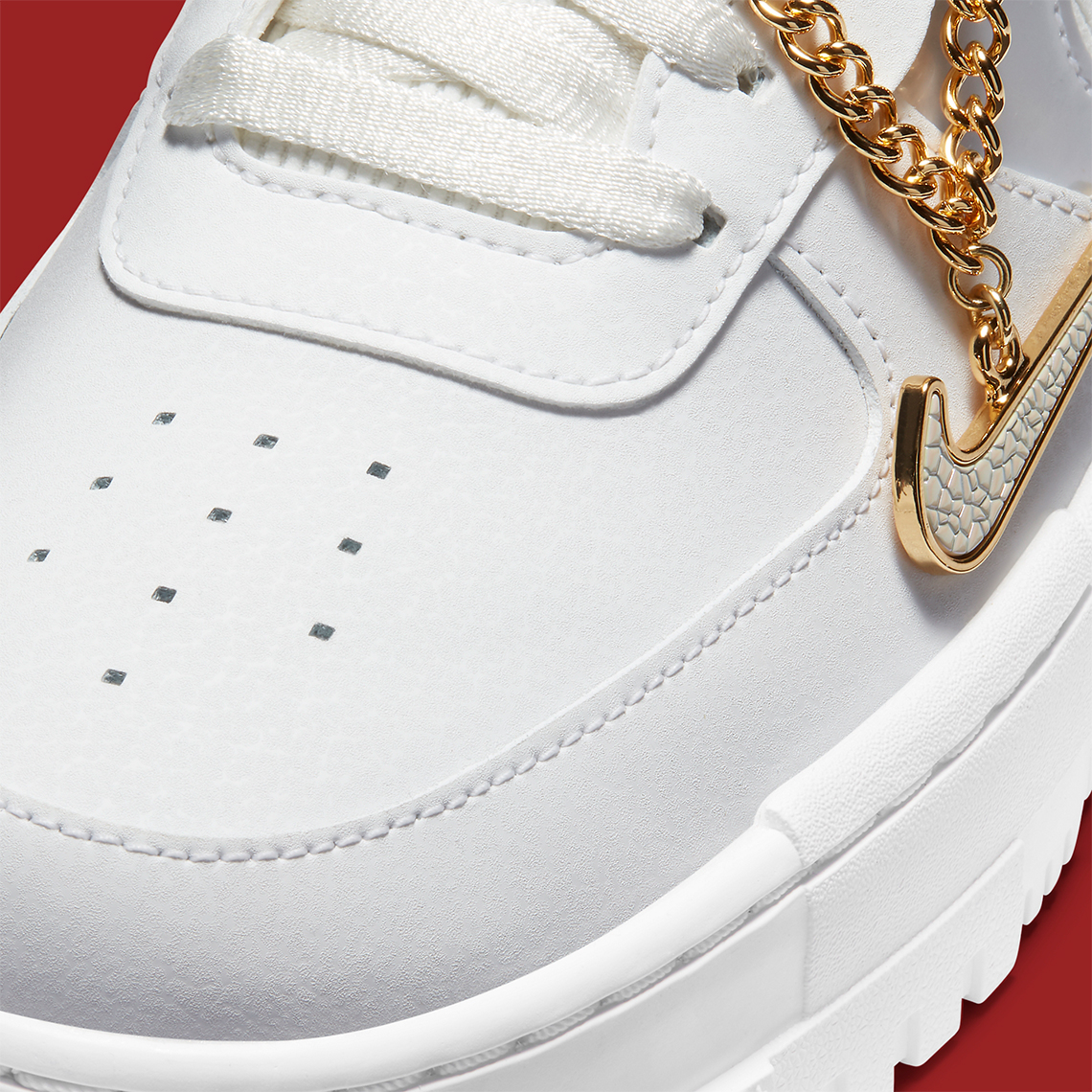Nike Air Force 1 Pixel Grey Gold Chain DC1160-100 | Gov