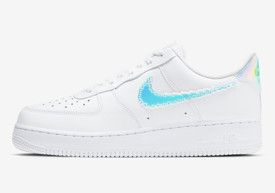 Nike Adds Removable Swoosh Logos To This Iridescent Air Force 1