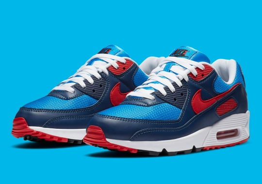 This Nike Air Max 90 Is A Yellow Hit Short Of A Doraemon Look