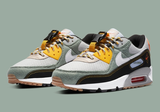 Navigation-Themed Nike Air Max 90 Features Buckles On The Tongue