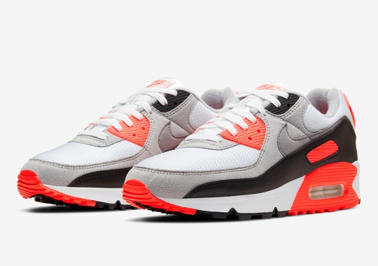 """Nike Air Max 90 """"Infrared"""" Releasing On November 9th In Full Family Sizes"""
