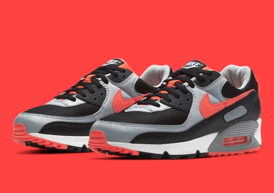 "Nike Adds A Metallic Spin To The Air Max 90 ""Infrared"""