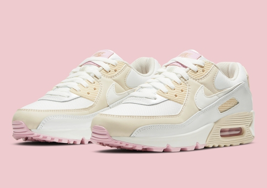 """The Nike Air Max 90 """"Summit White"""" Gets Subtle Accents Of Bronze And Pink"""