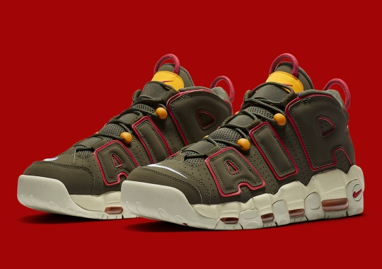 "Nike Air More Uptempo Appears In Army-Themed ""Cargo Khaki"""