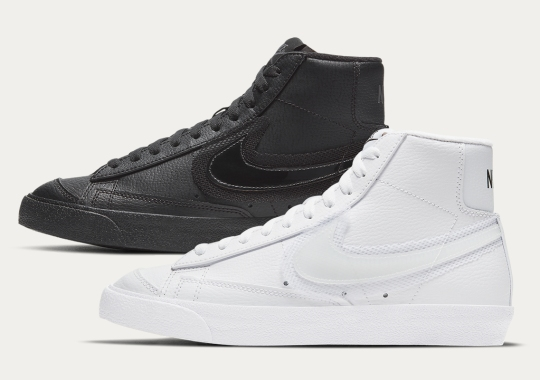 Nike Double-Layers The Swoosh With Mesh On The Blazer Mid '77