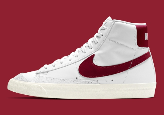 This Nike Blazer Mid '77 Features Team Red Accents
