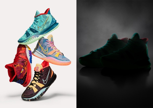 Nike Kyrie 7 To Launch Four Pre-Heat Colorways In Mystery Box Fashion
