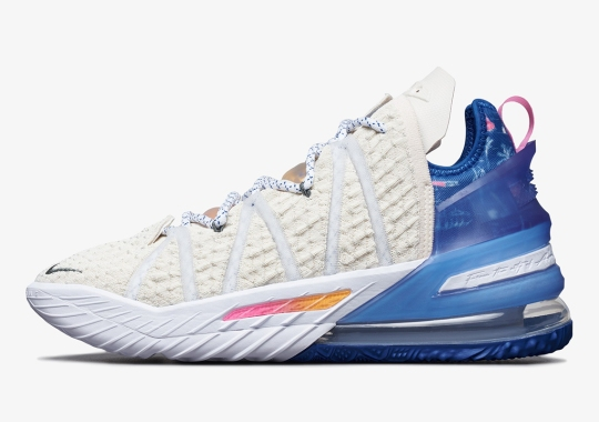 "Official Images Of The Nike LeBron 18 ""Los Angeles By Day"""