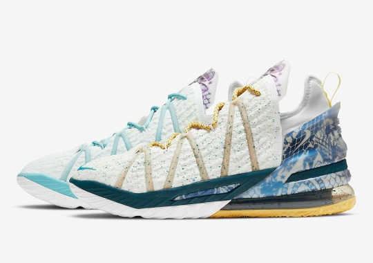 """Nike Releases A LeBron 18 """"Reflections Flip"""" After Championship Win"""