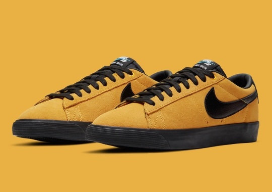 Nike SB Blazer GT Covered In University Gold Suede