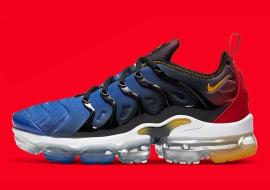 "Nike Air Vapormax Plus Appears In Heroic ""Captain Marvel"" Colors"