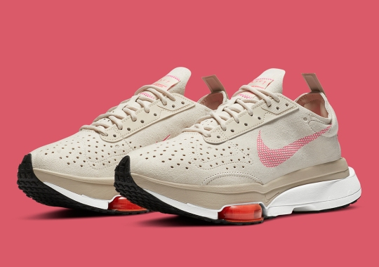 Light Orewood Brown And Pink Flash Cover This Nike Zoom Type