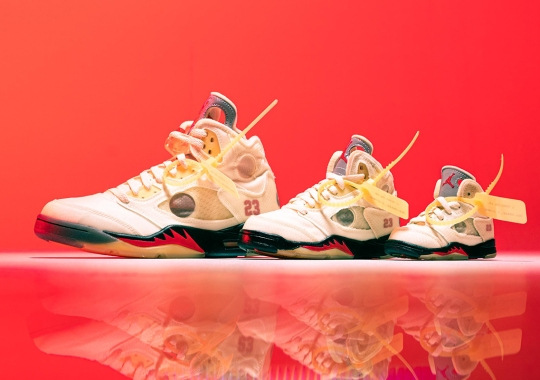 "The Off-White x Air Jordan 5 ""Sail"" Releases Tomorrow"