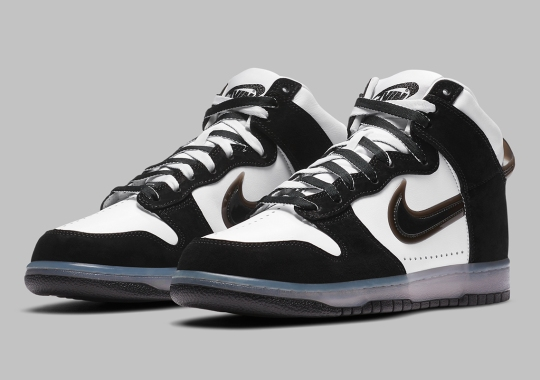 Official Images Of The Slam Jam x Nike Dunk High In Black/White