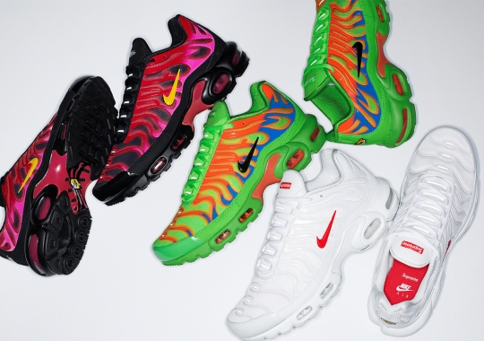 The Supreme x Nike Air Max Plus To Release On SNKRS Come October 22nd