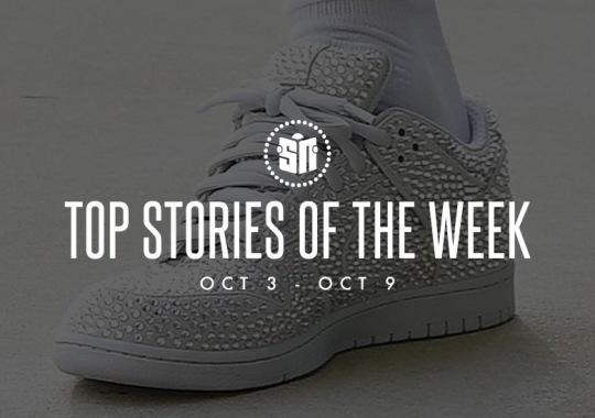Twelve Can't Miss Sneaker News Headlines from October 3rd to October 9th