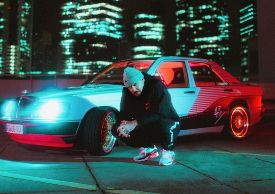 "Germany's 43einhalb Is Giving Away A Mercedes 190E ""Infrared Benz"" To Celebrate Air Max 90 Launch"