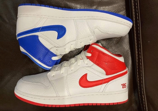 """A Mismatched Air Jordan 1 Mid """"85"""" Is Coming In Early 2021"""