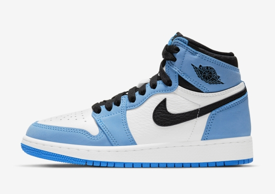 "Air Jordan 1 Retro High OG ""University Blue"" Releasing In Grade School Sizes"