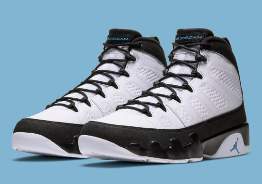 """The Air Jordan 9 """"University Blue"""" Is Releasing In Full Family Sizes"""